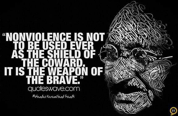 the gandhian philosophy of non violence essay Gandhi's philosophy of non-violence first there was hostility, blood, vandalism, looting, pillaging, and then there was gandhi mahatma gandhi was one of the most influential people in history and fittingly has a place in the pantheon of the visionaries who changed the world.